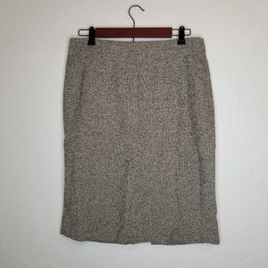 Ann Taylor Tweed Professional Pencil Skirt Size 10